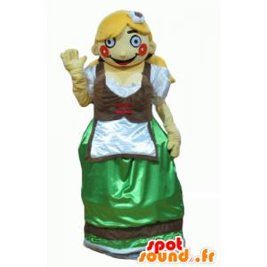 Mascot tyrolsk i tradisjonell kjole Østerrike