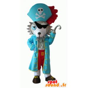 Hond mascotte, gekleed in piraat husky - MASFR24086 - Dog Mascottes