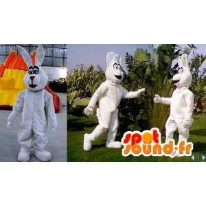 Valkoinen pupu maskotti, jättiläinen - kaikenkokoiset - MASFR006610 - maskotti kanit