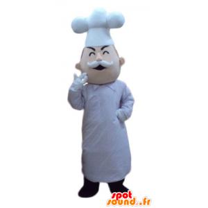 Chef-Maskottchen mit einem Hut und einem Schnurrbart - MASFR24095 - Menschliche Maskottchen