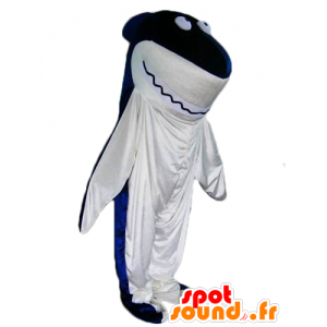 Shark mascot, blue and white giant - MASFR24096 - Mascots shark