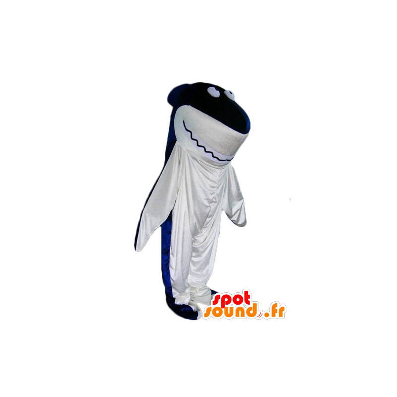 Shark mascot, blue and white giant - MASFR24096 - Mascots shark