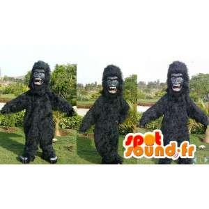 Maskot svart gorilla. svart gorilla drakt