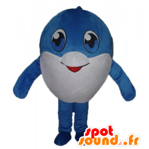 Mascotte large blue and white fish, very cute
