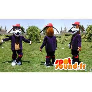 Brun hundmaskot i modedräkt - Spotsound maskot