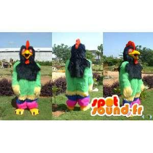 Mascot bunten Schwanz und behaart - alle Größen - MASFR006617 - Maskottchen der Hennen huhn Hahn