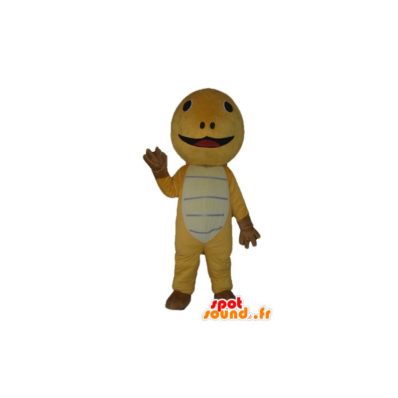 Geel schildpad mascotte, bruin en beige, heel schattig - MASFR24127 - Turtle Mascottes