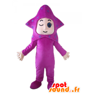 Mascot pink star, giant starfish