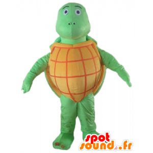 Mascot orange and green turtle, all round, very successful