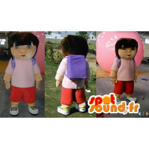 Dora the Explorer mascot. Costume Dora the Explorer