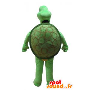 Groene schildpad mascotte en beige - MASFR24151 - Turtle Mascottes