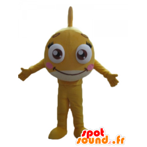Molto bella e simpatica mascotte pesci gialli, gigante - MASFR24156 - Pesce mascotte