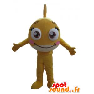 Very pretty and cute mascot yellow fish, giant - MASFR24156 - Mascots fish