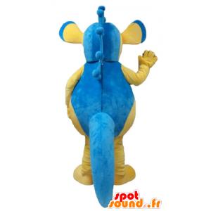 Mascot blue and yellow seahorse, giant - MASFR24157 - Mascots hippopotamus