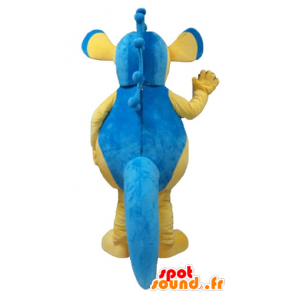Mascot blue and yellow seahorse, giant - MASFR24157 - Mascots hippopotamus