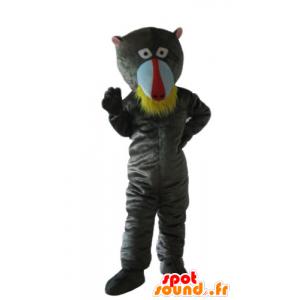Gray monkey mascot, baboon - MASFR24158 - Mascots monkey