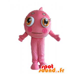 Mascot Pink clownfish and white, pretty and colorful - MASFR24159 - Mascots fish