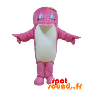 Pink and white fish Mascot, dolphin