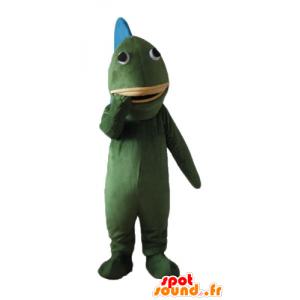 Mascot green and blue fish, giant - MASFR24163 - Mascots fish