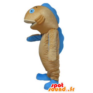 Mascot orange and blue fish, giant salmon - MASFR24165 - Mascots fish