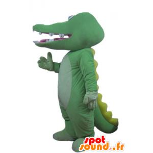 Verde e giallo coccodrillo mascotte, gigante - MASFR24176 - Mascotte di coccodrilli