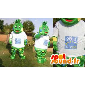 Mascot green creature. Frog Costume