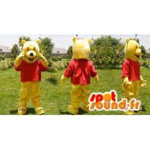 Mascotte de Winnie l'ourson, célèbre ours jaune - MASFR006634 - Mascottes Winnie l'ourson