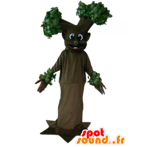 Mascot brown and green tree, giant and smiling - MASFR24199 - Mascots of plants