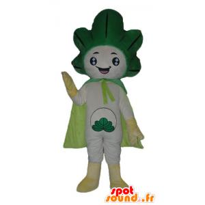 Leek Maskottchen, grün und Weißkohl, Riesen - MASFR24216 - Maskottchen von Gemüse