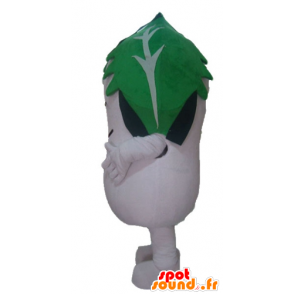 White radish mascot of Dudhi with a sheet over his head - MASFR24224 - Mascots of plants