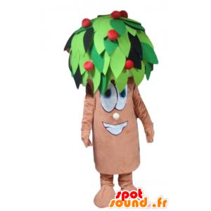 Baum-Maskottchen, Kirsche, Braun, Grün und Rot - MASFR24232 - Maskottchen der Pflanzen