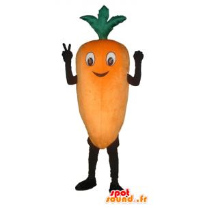 Mascot riesigen Karotte orange und lächelnd - MASFR24261 - Maskottchen von Gemüse