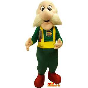 Mascotte vecchio in tuta verde - MASFR006649 - Umani mascotte