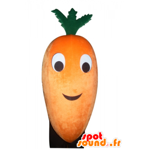 Mascot orange and green carrot, giant - MASFR24273 - Mascot of vegetables