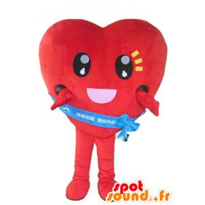 Cuore rosso della mascotte, gigante e toccante - MASFR24282 - Valentine mascotte