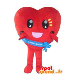 Mascot red heart, giant and touching - MASFR24282 - Valentine mascot