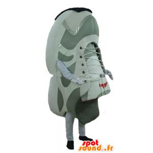 Maskottchen-Schuhe, weiß und grau Basketballriesen - MASFR24284 - Maskottchen von Objekten