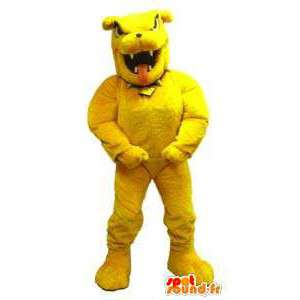 Mascotte de bulldog jaune. Costume de bulldog - MASFR006653 - Mascottes de chien