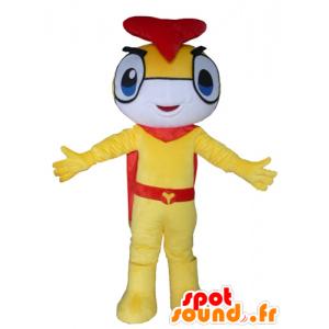 Mascot insect, sneeuwman, geel, wit en rood - MASFR24295 - Niet-ingedeelde Mascottes