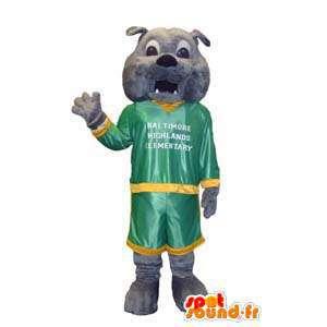 Grijze bulldog mascotte. Costume bulldog - MASFR006654 - Dog Mascottes