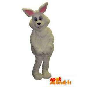 Kæmpe hvid kaninmaskot - Alle størrelser - Spotsound maskot