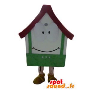 Mascot giant house, white, red and green - MASFR24313 - Mascots home