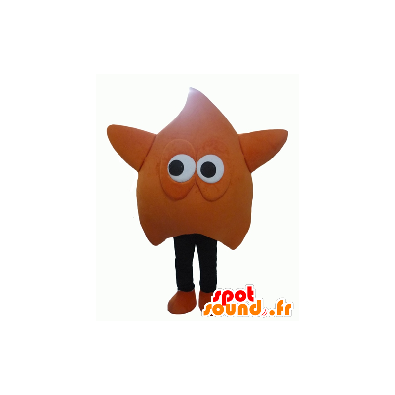 Mascot gigantische oranje en zwarte ster en grappige - MASFR24323 - Niet-ingedeelde Mascottes