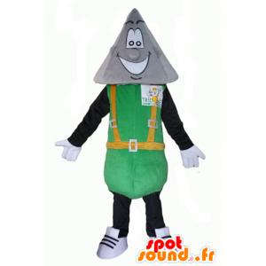 Mascotte tridome man met een spitse kop - MASFR24336 - Niet-ingedeelde Mascottes
