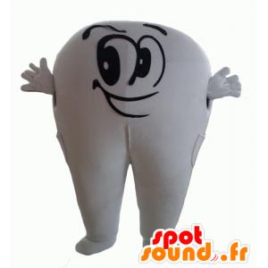 Mascot reusachtige witte tanden, schattig en glimlachen - MASFR24338 - Niet-ingedeelde Mascottes