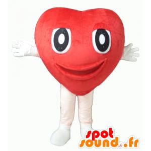 Coração vermelho mascote, gigante e bonito - MASFR24342 - mascote dos namorados