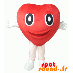 Mascot red heart, giant cute - MASFR24342 - Valentine mascot