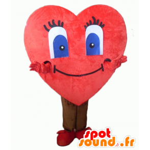 Mascot red heart, giant cute - MASFR24343 - Valentine mascot
