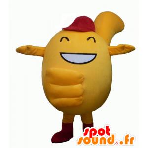 Keltainen lumiukko maskotti ympärillä, ja söpö - MASFR24345 - Mascottes non-classées