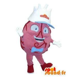 Mascot shaped giant heart. Costume body - MASFR006669 - Mascots unclassified